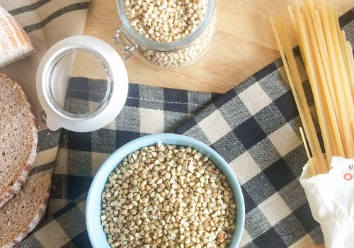 gluten-free grains and egg-free pasta